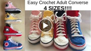 Easy Crochet Adult Converse