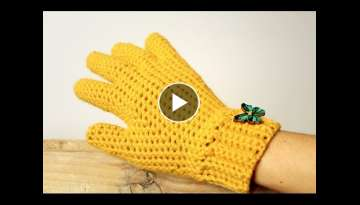 How to crochet GLOVES with fingers
