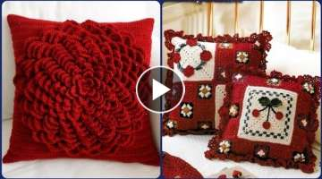 most beautiful hand knitted crochet cushion cover design patterns