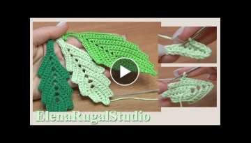 How To CROCHET Leaf EARRINGS