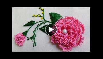 Hand Embroidery: Brazilian Embroidery/Needle tatting