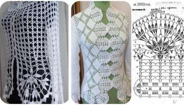 Crochet openwork t shirt designs