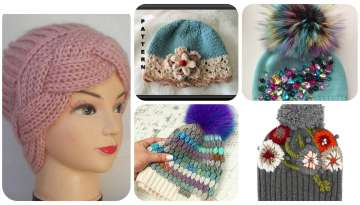 Crochet berets for girls and teens