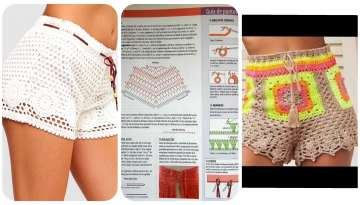Simple crochet shorts tutorial