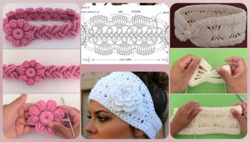 Crochet headbands for girls of all ages