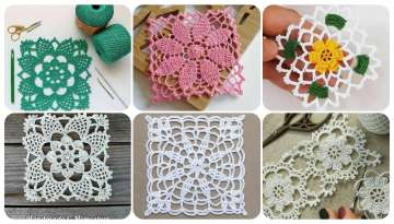 Gorgeous rectangular crochet tablecloth designs