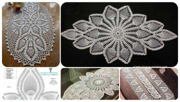 Images with beautiful designs of crochet table runners