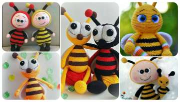 4 ideas to crochet a bee