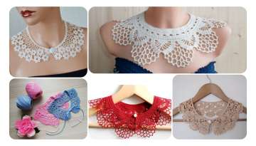Knit Pattern Collar Making