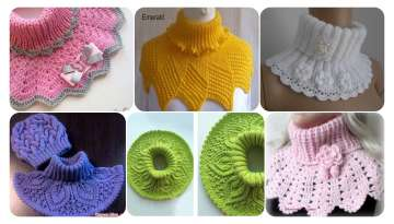Knitted neck collar recipe for women