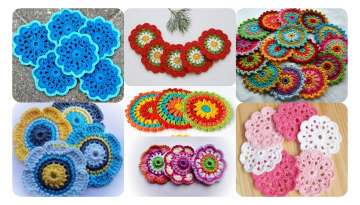 How to make a crocheted flower motif?
