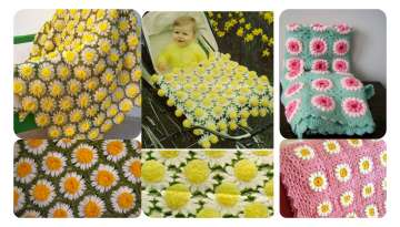 Easy to Crochet Daisy Blanket Making