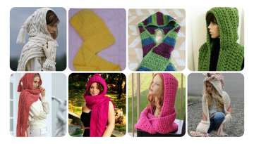 How to Knit Hooded Scarf.