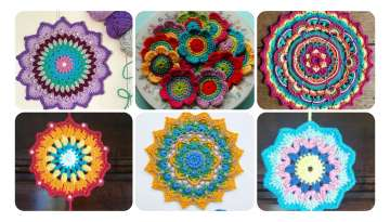 Knitting Flower Wall Decor