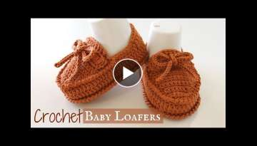Crochet Baby Loafers Shoes