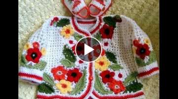 New Design in Hindi - Knitting Pattern | Woolen Embroidery | '' beautiful multicolored flower