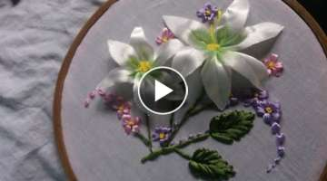 How to make Ribbon embroidery flowers .