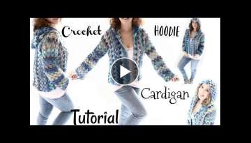 Short Hoodie Caribbean Queen Cardigan Crochet Tutorial