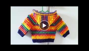 How to crochet baby hoodie