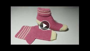 Women socks booties knitting pattern