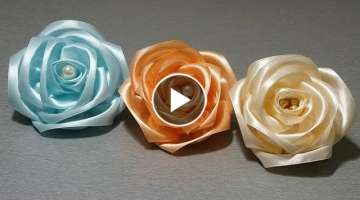 Ribbon Work: Easy Rose Flower