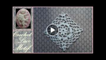 Crochet Lace Flower Motif easy pattern for beginners