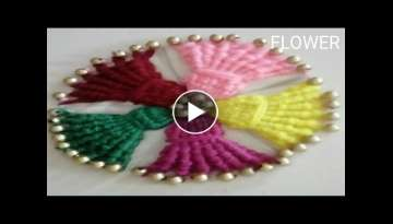 Hand embroidery table cloth new work, flower design part -49