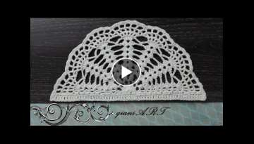How to Crochet Half Circle Doily pattern