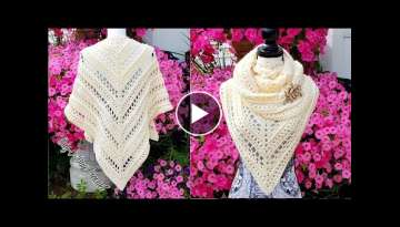 How to crochet a ladies shawl | Pure Innocence | Bag o day Crochet Tutorial #503