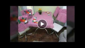 Knitted table and chair cover models