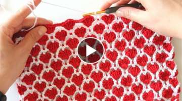 Crochet Cute Hearts Stitch