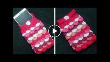 How to crochet crocodile stitch mobile cover