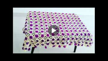 How to crochet table cloth or sofa cover