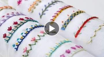 14 Hand Embroidery Borders for Beginners