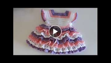 How to crochet a layered baby dress