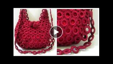 How to make round crochet pattern handbags