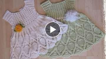 Crochet Patterns| for |crochet baby dress| 9