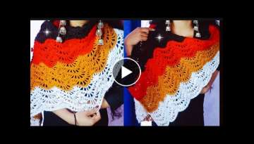Crochet shawl knitting