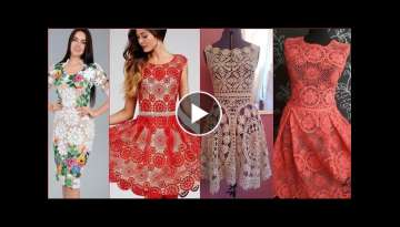 Top latest gorgeous upcoming FASHION Crocheting knitting, bridal fancy skater dresses designes id...