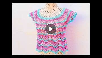 Crochet summer blouse very easy and fast Majovel crochet