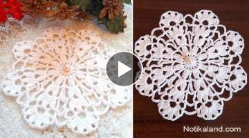 CROCHET doily Crochet flower Tutorial Crochet motif pattern
