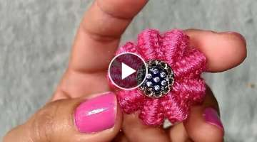 No crochet no knitting Surprise flower/ Hand embroidery trick