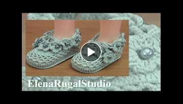 Crochet Flower Baby Booties Tutorial 196 Sapatinho De Crochê
