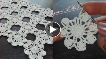 Easy to Crochet flower motif pattern for beginners