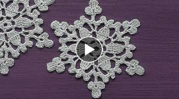 CROCHET motif Snowflake Ornament Crochet Tutorial Decoration for christmas tree