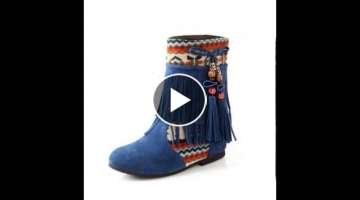 Vintage tel beaded ethnic booties.avi