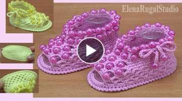 CROCHET Baby SANDALS With Beads