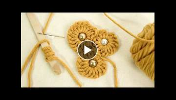 Fun & Easy Flower Ideas: Embroidery Tricks with Yarns by HandiWorks