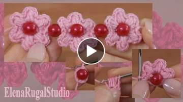 Crochet Simple Flowers with Puff Stitches