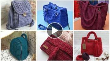 Latest stylish very useful designers crochet handbags designs for ladies/ business woman